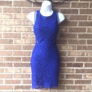 Hailey Logan By Adrianna Papell Royal Blue Dress